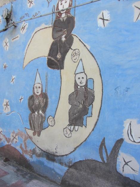Orgosolo village graffiti sardaigne 2014